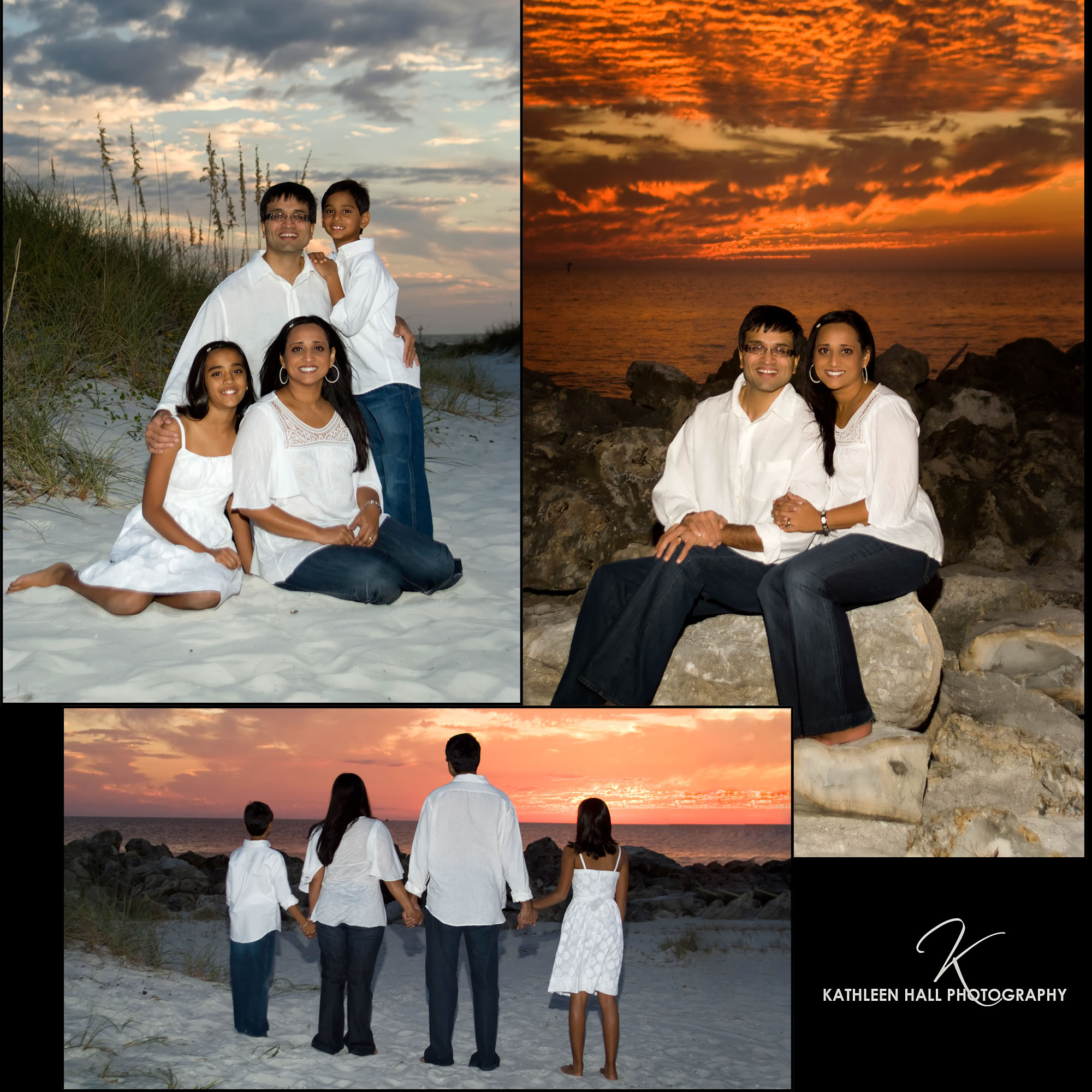 Clearwater Beach sunset portraits