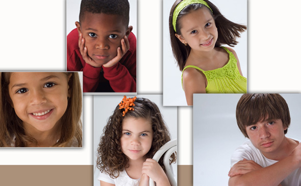 child modeling images