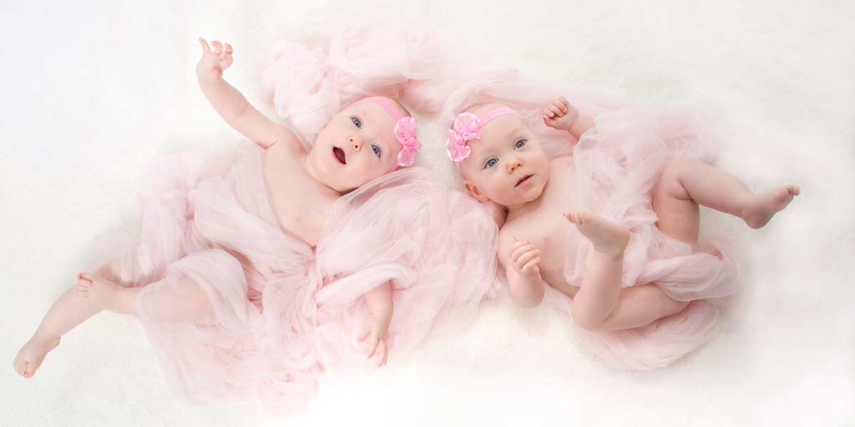Twin baby girl photographs