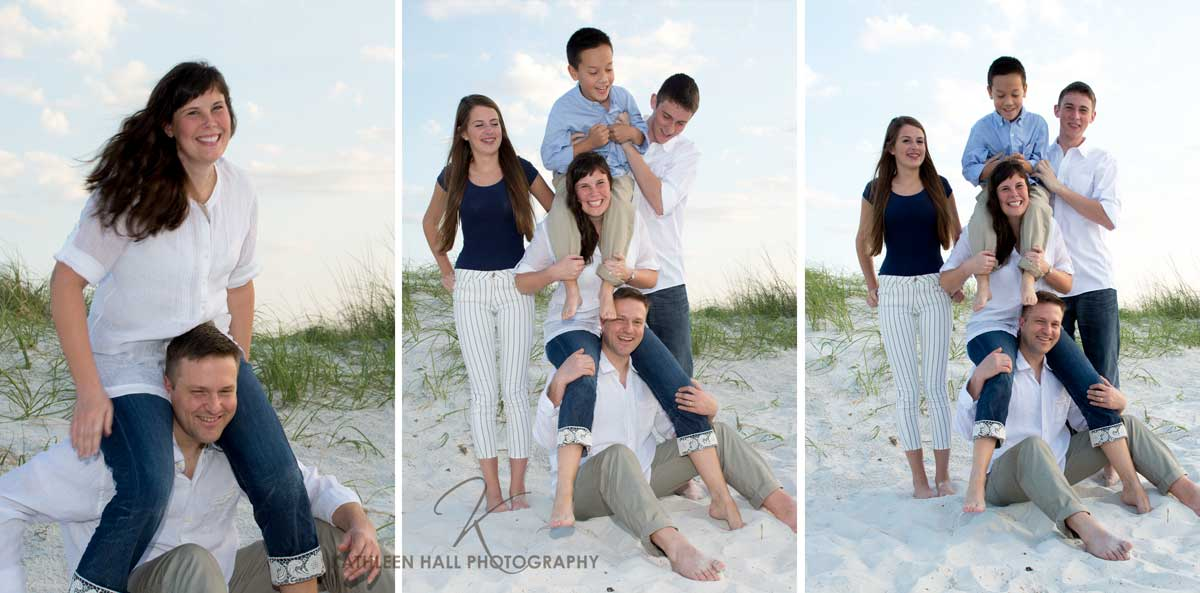 Family photos on Clearwater Beach