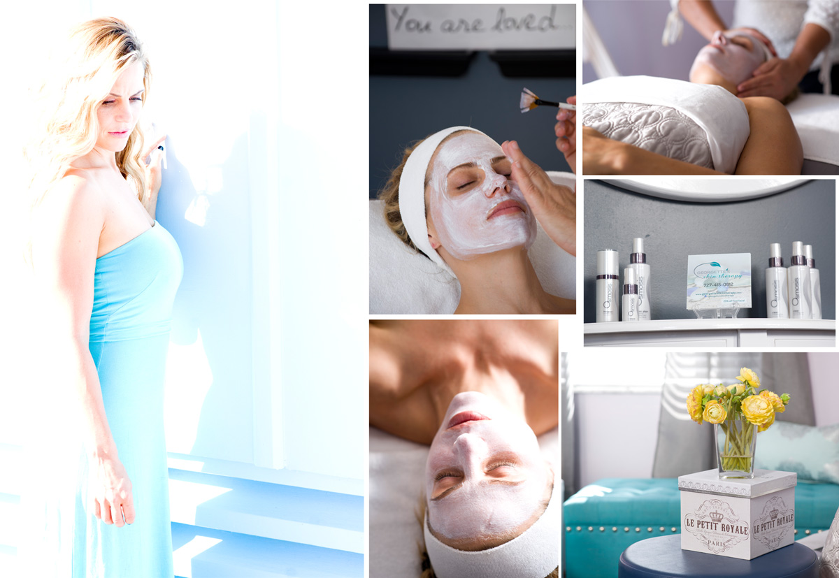 Images for a new website for skin therapy