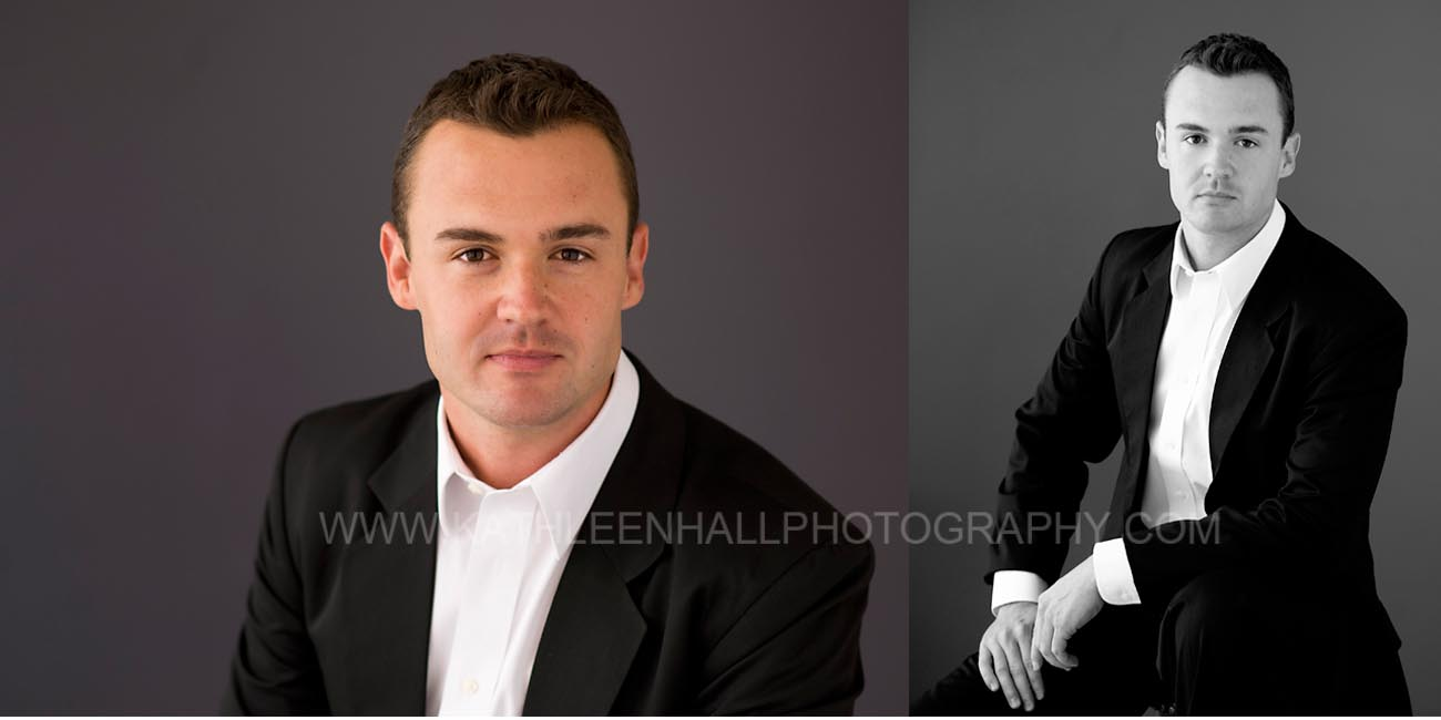 Corporate Headshot of a man by Kathleen Hall Photography